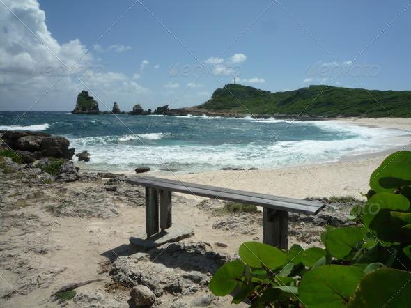 Bench on the beach